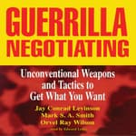 Guerrilla Negotiating by  Jay Conrad Levinson audiobook