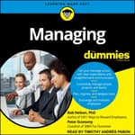 Managing For Dummies by  Bob Nelson PhD audiobook