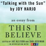 Talking with the Sun by  Joy Harjo audiobook