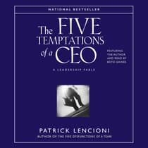 The Five Temptations of a CEO by Patrick M. Lencioni audiobook