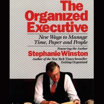 The Organized Executive by Stephanie Winston audiobook