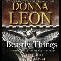 Beastly Things by Donna Leon audiobook