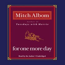 For One More Day by Mitch Albom audiobook