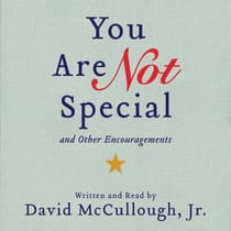 You Are Not Special by David McCullough audiobook
