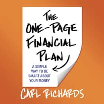 The One-Page Financial Plan by Carl Richards audiobook