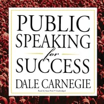 Public Speaking for Success by Dale Carnegie audiobook