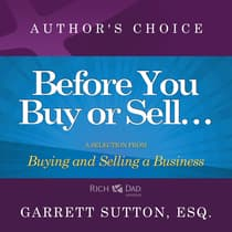 Before You Begin Buying or Selling a Business by Garrett Sutton audiobook
