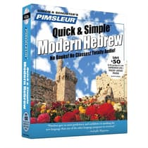 Pimsleur Hebrew Quick & Simple Course - Level 1 Lessons 1-8 by Paul Pimsleur audiobook