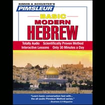 Pimsleur Hebrew Basic Course - Level 1 Lessons 1-10 by Paul Pimsleur audiobook