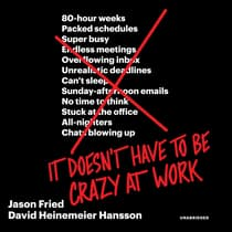 It Doesn't Have to Be Crazy at Work by Jason Fried audiobook