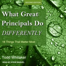 What Great Principals Do Differently by Todd Whitaker audiobook