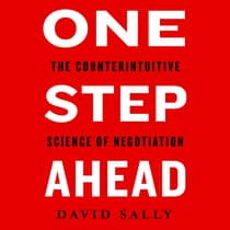 One Step Ahead by David Sally audiobook