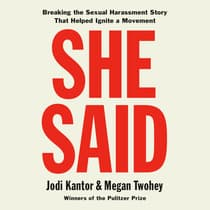 She Said by Jodi Kantor audiobook