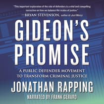 Gideon's Promise by Jonathan Rapping audiobook