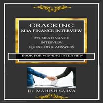 CRACKING  MBA FINANCE INTERVIEW by Mahesh Sarva audiobook
