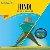 Hindi Crash Course by LANGUAGE/30  audiobook