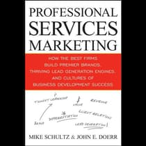 Professional Services Marketing by Mike Schultz audiobook