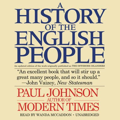 A History of the English People by Paul Johnson audiobook