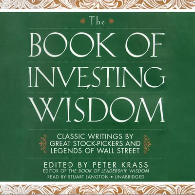 The Book of Investing Wisdom by Peter Krass audiobook