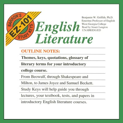 English Literature by Benjamin W. Griffith audiobook