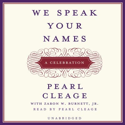 We Speak Your Names by Pearl Cleage audiobook