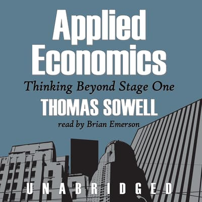 Applied Economics by Thomas Sowell audiobook