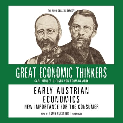 Early Austrian Economics by Israel Kirzner audiobook