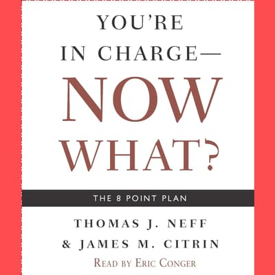 You're in Charge--Now What? by Thomas J. Neff audiobook