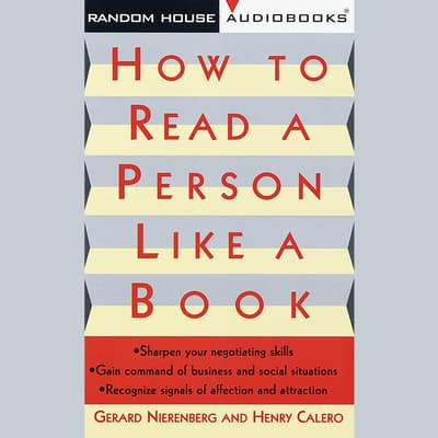 How to Read a Person Like a Book by Gerard I. Nierenberg audiobook