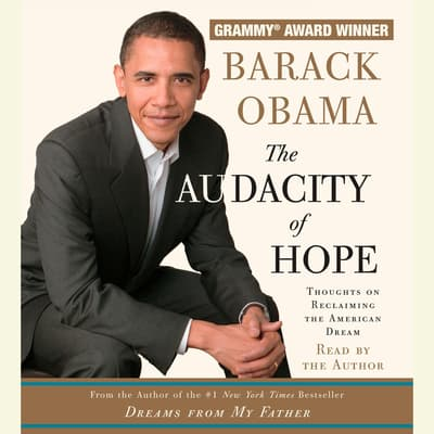 The Audacity of Hope by Barack Obama audiobook