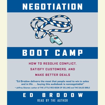 Negotiation Boot Camp by Ed Brodow audiobook