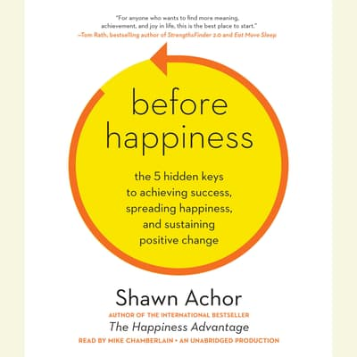 Before Happiness by Shawn Achor audiobook