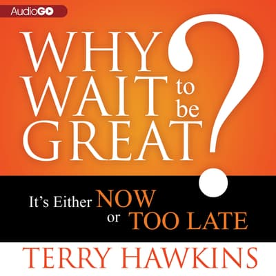 Why Wait to Be Great? by Terry Hawkins audiobook