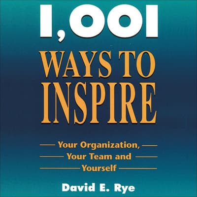 1001 Ways to Inspire by David E. Rye audiobook