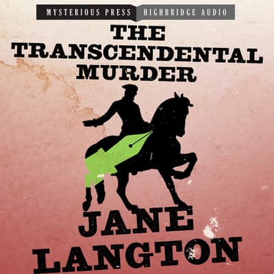 The Transcendental Murder by Jane Langton audiobook