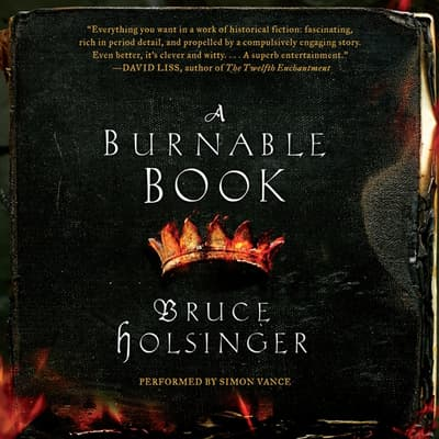 A Burnable Book by Bruce Holsinger audiobook