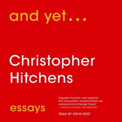 And Yet... by Christopher Hitchens audiobook