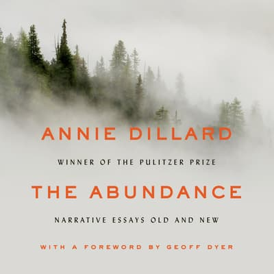 The Abundance by Annie Dillard audiobook