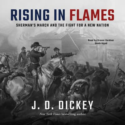 Rising in Flames by J. D. Dickey audiobook