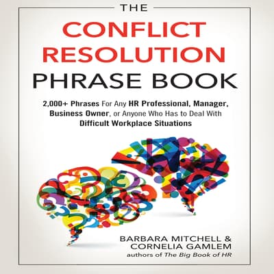 The Conflict Resolution Phrase Book by Barbara Mitchell audiobook