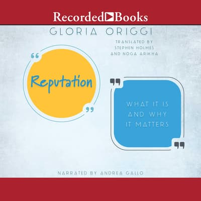 Reputation by Gloria Origgi audiobook