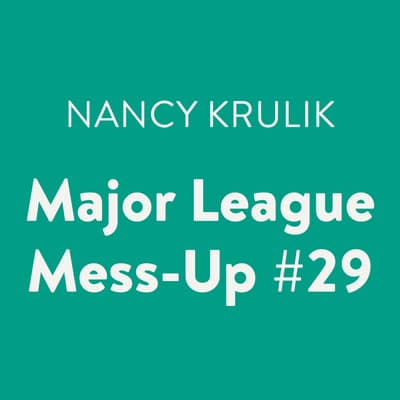Major League Mess-Up #29 by Nancy Krulik audiobook