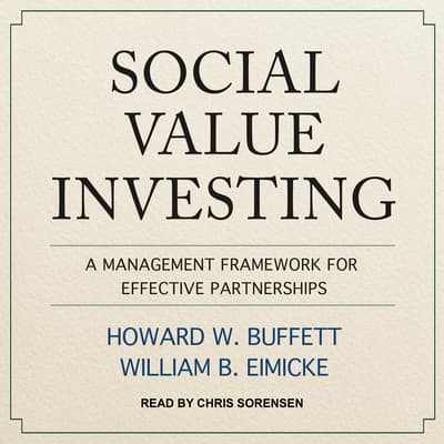 Social Value Investing by Howard W. Buffett audiobook