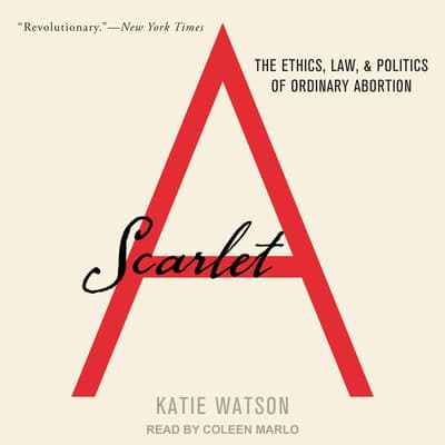 Scarlet A by Katie Watson audiobook