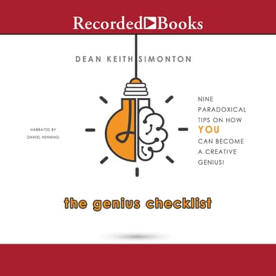 The Genius Checklist by Dean Keith Simonton audiobook