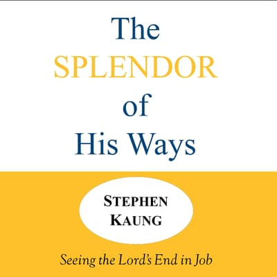The Splendor of His Ways by Stephen Kaung audiobook