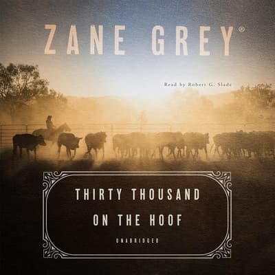 Thirty Thousand on the Hoof by Zane Grey audiobook