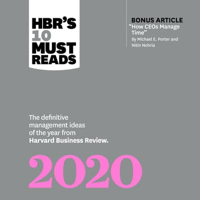 HBRs 10 Must Reads 2020 by Harvard Business Review audiobook