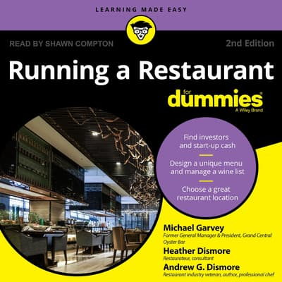 Running a Restaurant For Dummies by Heather Dismore audiobook