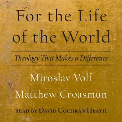For the Life of the World by Miroslav Volf audiobook